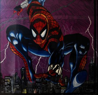 Spider Man 1996 6x6 Feet Mural 72x72 Original Painting - Steve Kaufman