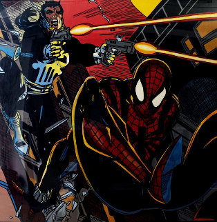 Spiderman 1996 65 x 65  Original Painting - Steve Kaufman