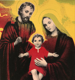 Baby Jesus, Mary And Joseph 2006 Limited Edition Print - Steve Kaufman
