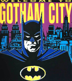 Batman: Welcome to Gotham City 1995 Limited Edition Print - Steve Kaufman