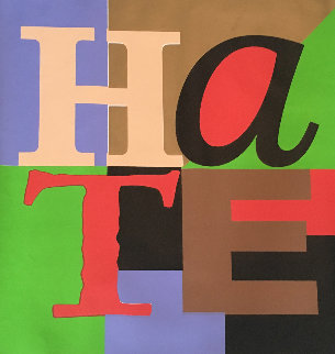 Hate 2005 Embellished Limited Edition Print - Steve Kaufman