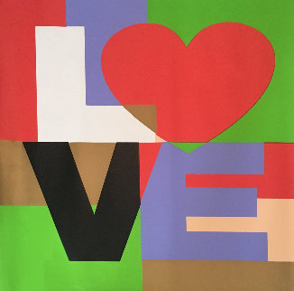 Love  2005 Embellished Limited Edition Print - Steve Kaufman