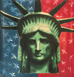 Liberty Head Embellished  Limited Edition Print - Steve Kaufman