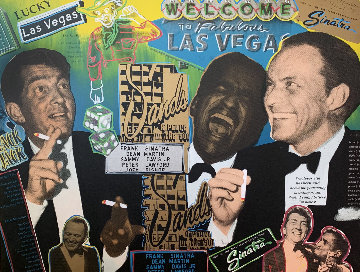 Rat Pack Sands 2014 Embellished Limited Edition Print - Steve Kaufman