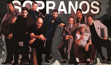 Sopranos Unique  36x60 Original Painting - Steve Kaufman
