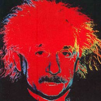 Albert Einstein, Red 1996 Limited Edition Print - Steve Kaufman
