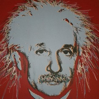 Einstein: Homage to Genius Series 1996 Embellished Limited Edition Print - Steve Kaufman