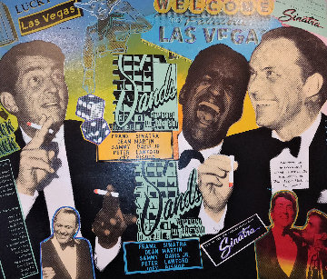 Rat Pack At the Sands 2005 Embellished Limited Edition Print - Steve Kaufman