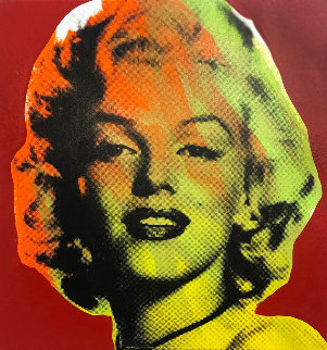 Mini Marilyn 7 (Red) Emellished Limited Edition Print - Steve Kaufman