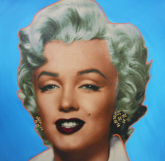 Marilyn Icon - Blue Embellished Limited Edition Print - Steve Kaufman