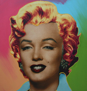 Marilyn Icon   24x24 Embellished Limited Edition Print - Steve Kaufman