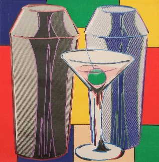 Martinis 2005 Embellished Limited Edition Print - Steve Kaufman