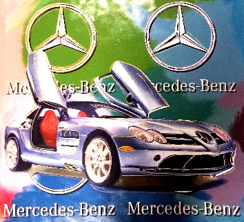 Mercedes Benz Sl Coupe - Multi Color 2005 Embellished Original Painting - Steve Kaufman