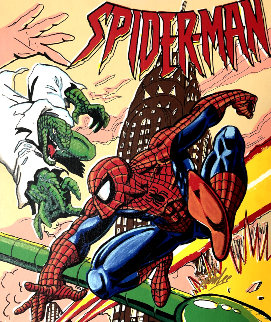 Spiderman 17x20 Limited Edition Print - Steve Kaufman