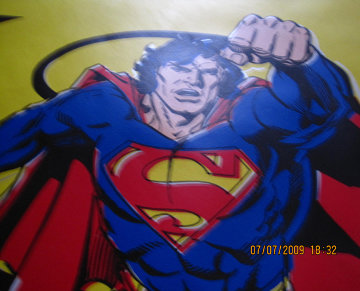 Superman Yellow AP Limited Edition Print - Steve Kaufman