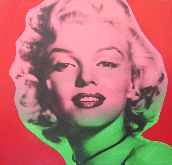 Marilyn Monroe State VII Red Background 1995