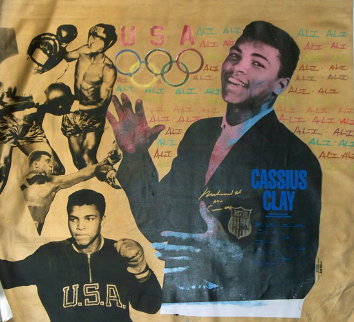 Muhammad Ali Olympic State HS Clay and Ali Gold PP 1996 Limited Edition Print - Steve Kaufman