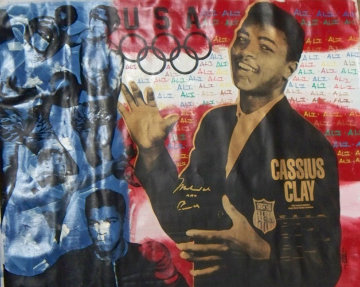 Muhammed Ali Olympic Red White and Blue Limited Edition Print - Steve Kaufman
