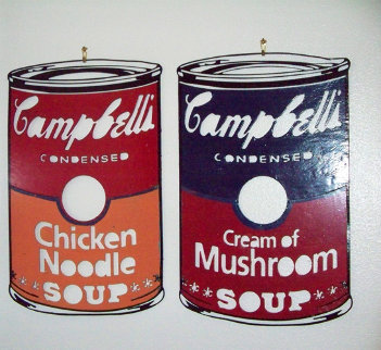 Campbell's Soup Can Metal Sculptures 1990 Sculpture - Steve Kaufman