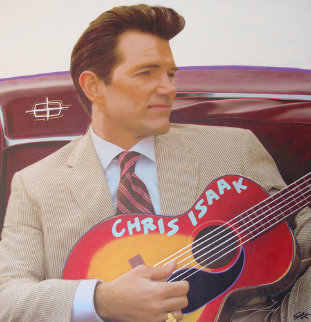 Chris Isaak Unique 2007 50x48 Original Painting - Steve Kaufman