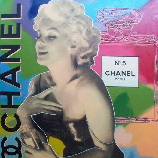Marilyn Chanel No 5 Unique  2000 47x47 Original Painting - Steve Kaufman