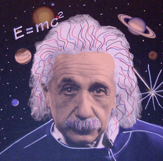 Albert Einstein E=mc2 by Steve Kaufman