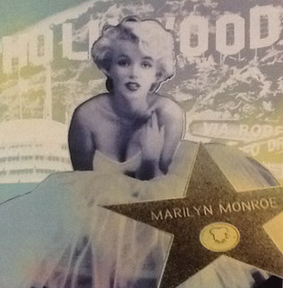 Hollywood Marilyn Embellished Limited Edition Print - Steve Kaufman