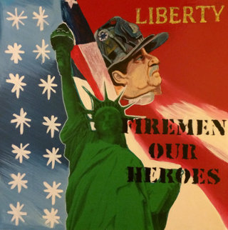 Liberty - Fireman Our Heroes 9/11 Tribute  Limited Edition Print - Steve Kaufman