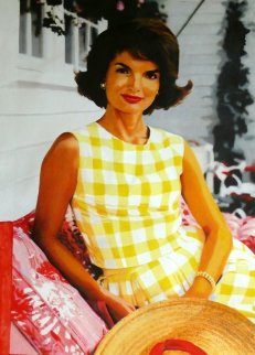 Jackie Kennedy Unique 2004 47x32 Original Painting - Steve Kaufman