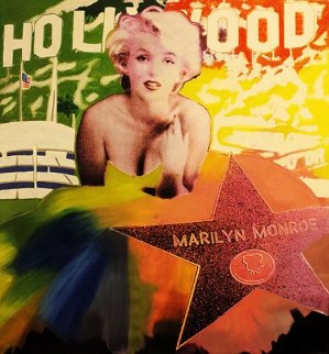 Marilyn: Hollywood Star Unique 48x48 Original Painting - Steve Kaufman