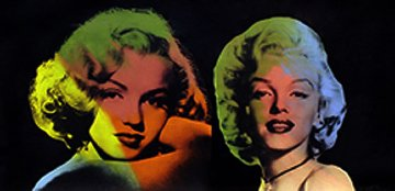 Double Marilyn- Norma Jean (Black) Unique 22x40 Original Painting - Steve Kaufman