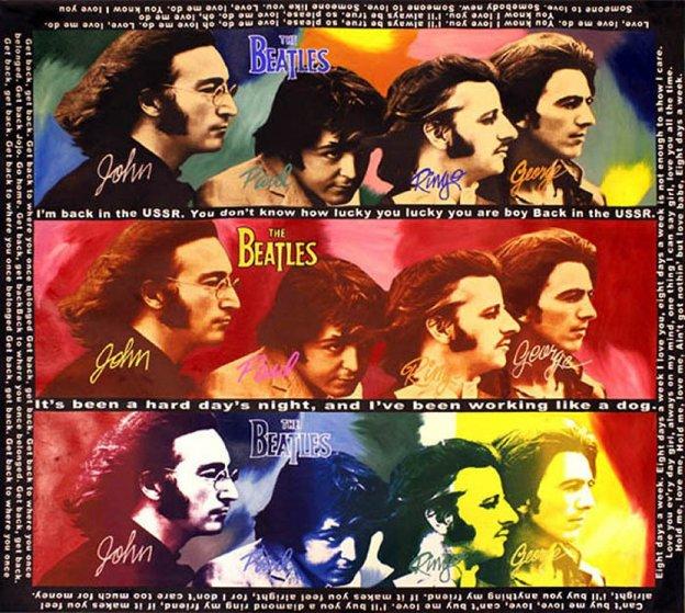 Beatles Hard Days Night Unique 60x60