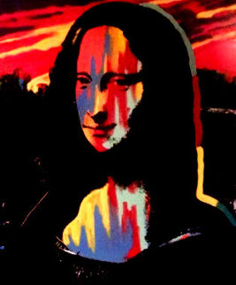 Mona Lisa Sunset 1995 Embellished - Set of 3 Original Painting - Steve Kaufman