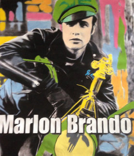 Marlon Brando 1995 Unique 60x52 Original Painting - Steve Kaufman