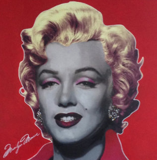 Marilyn Pop Ruby Red Signature 2002 Unique 48x48 Original Painting - Steve Kaufman