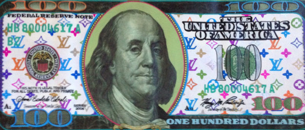 $100 Bill Louis Vuitton  2000 22x49