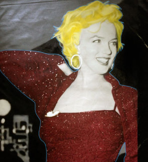 Marilyn Red Carpet 2004 48x36 Unique Original Painting - Steve Kaufman