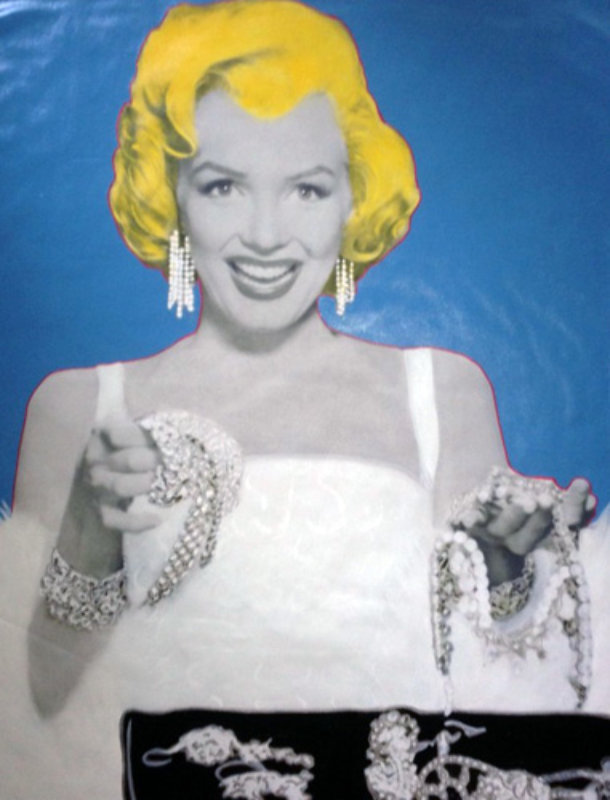 Marilyn Diamonds Are a Girls Best Friend Unique 2000 48x36