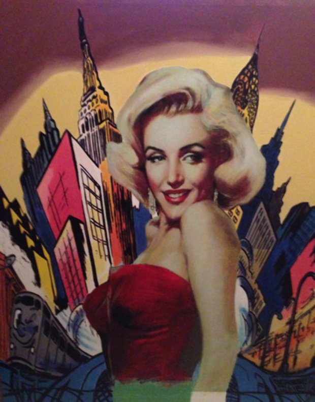 Marilyn Living in the Comic World 2000 Unique 49x42