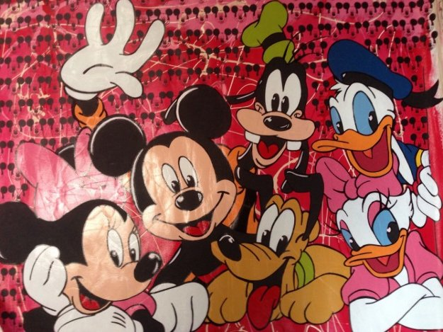 Disney Gang Red Jackson Pollock Unique 2000 37x47