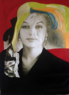 Marilyn Sophisticated X-Large 1996 Unique 60x40 Original Painting - Steve Kaufman