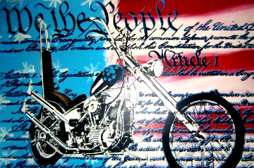 Freedom to Ride Embellished Limited Edition Print - Steve Kaufman