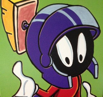 Marvin, The Martian 51x51 Original Painting - Steve Kaufman