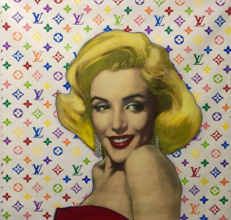 Marilyn Louis Vuitton Unique 1995  40x40 Original Painting - Steve Kaufman