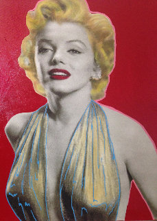 Marilyn Unique 20x17 Original Painting - Steve Kaufman