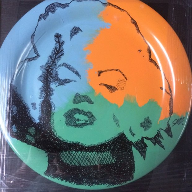 Marilyn Monroe Ceramic Plate Unique