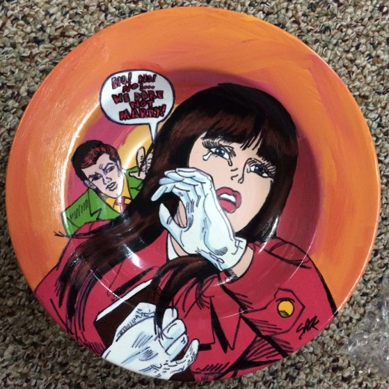 Lichtenstein Crying Girl Ceramic Bowl