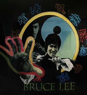 Bruce Lee 52x52 Original Painting - Steve Kaufman