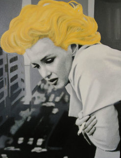 Marilyn Monroe- 5th Ave Nyc 48x38 Original Painting - Steve Kaufman