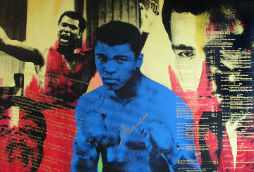 Greatest -  Muhammad Ali Embellished 1996 Limited Edition Print - Steve Kaufman